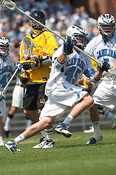 09 May 2009: North Carolina Tar Heels defenseman Charlie McComas (45) during a 15-13 win over the University of Maryland - Baltimore County Retrievers on Fetzer Field in Chapel Hill, NC.
