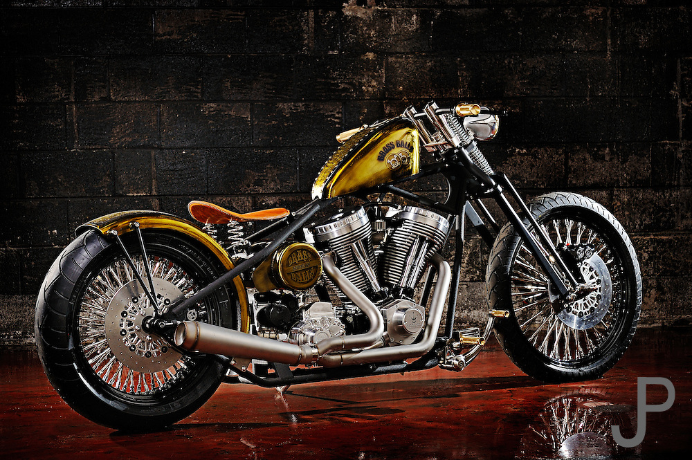 Brass Ball Bobbers and Choppers motorcycle with Indian motor