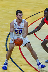 NORMAL, IL - February 27: Austin Phyfe defended by Abdou Ndiaye during a college basketball game between the ISU Redbirds and the Northern Iowa Panthers on February 27 2021 at Redbird Arena in Normal, IL. (Photo by Alan Look)