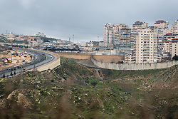 25 February 2020, Jerusalem: Dahiet Al-Salam, in the Shufat Camp area of Jerusalem, has been closed off by the Israeli authorities' construction of the separation wall that runs through Jerusalem.
