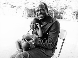 Mar 12, 1979; Yei, Sudan; General MUSTAFA ADRISI former Vice President and Defence Minister in Idi Amin's regime picture here with one of his 36 children now living in Southern Sudan. (Credit Image: © Keystone Press Agency/Keystone USA via ZUMAPRESS.com)
