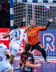 14-12-2018 FRA: Women European Handball Championships France - Netherlands, Paris<br /> Second semi final France - Netherlands / Estelle Nze Minko #27 of France,Tess Wester #33 of Netherlands