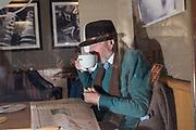 Wilfred De'Ath in Costa Coffee, Cambridge, 22  April 2017