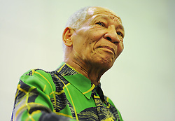 Dec. 9, 2013 - Cape Town, Western Cape, South Africa - The City of Cape Town hosted an Evening of Remembrance at the OR Tambo hall, Khayelitsha. for the late former President of South Africa, Nelson Mandela. Dr Don Mattera reads his poems to the audience, South Africa  Monday, 9th December 2013. Picture by Roger Sedres / i-Images (Credit Image: © Roger Sedres/i-Images/ZUMAPRESS.com)