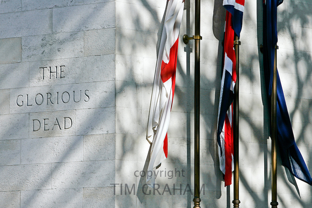 The Glorious Dead commemorated at the Cenotaph, Whitehall, London, United  Kingdom.