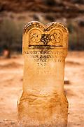 Tombstone in the Grafton Cemetery, Grafton ghost town, Utah USA