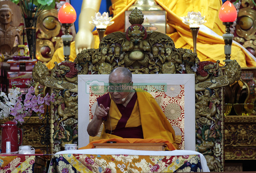 June 4, 2017 - Dharamshala, India - Tibetan spiritual leader the Dalai Lama during his talk at Tsugla Khang temple. (Credit Image: © Shailesh Bhatnagar/Pacific Press via ZUMA Wire)