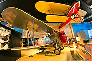 Cradle of Aviation air and space museum, a Grumman F3F-2 fighter plane replica, in Garden City, New York, USA, on December 2, 2011