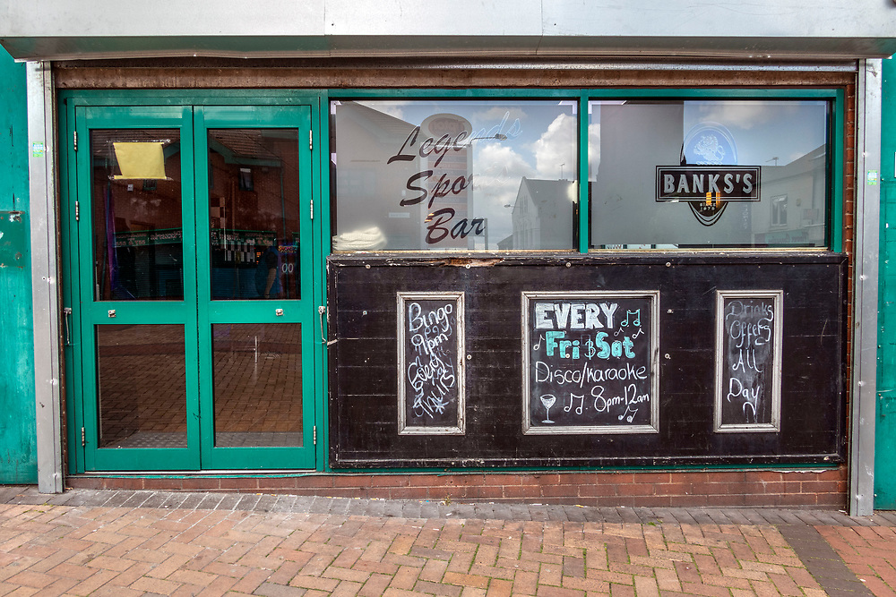 Sports bar, Tipton, northwest of Birmingham, West Midlands, UK