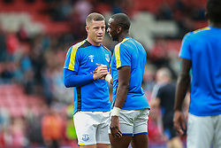 Ross Barkley of Everton and Yannick Bolasie of Everton prepare for the match - Mandatory by-line: Jason Brown/JMP - 24/09/2016 - FOOTBALL - Vitality Stadium - Bournemouth, England - AFC Bournemouth v Everton - Premier League