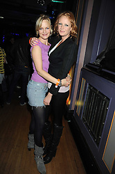 Left to right, sisters ALEXIA INGE and OLIVIA INGE at the launch of Nokia's 'Comes With Music' held at the Bloomsbury Ballroom, 37-63 Bloomsbury Square, London WC1 on 21st October 2008.