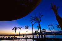 Sunset, Hilton Luxor Resort and Spa on the Nile River, Luxor, Egypt