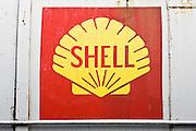 Shell Oil Company logo on oil tank, Gloucestershire, United Kingdom