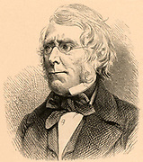 William Edmond Logan (1798-1875) Canadian geologist. Author of 'Geology of Canada' (1863).  From 'Life of Sir Roderick I. Murchison' by Archibald Geikie (London, 1875). Engraving.