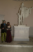 Lord Bath and Trudie Juggernaut-Sharma. Launch of ' The World of Private Castles, Palaces and Estates. Syon House. 31 October 2005. ONE TIME USE ONLY - DO NOT ARCHIVE © Copyright Photograph by Dafydd Jones 66 Stockwell Park Rd. London SW9 0DA Tel 020 7733 0108 www.dafjones.com