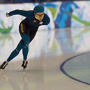 Winter Olympics, Vancouver, 2010.Sophie Muir of Australia, training at the Speed Skating venue at Richmond Oval in preparation for the Long Track Speed Skating event at the Winter Olympics. 8th February 2010. Photo Tim Clayton