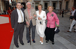 Left to right, NORMAN ROSENTHAL, JOHN RUSSELL, LADY GRIMSHAW andROSAMUND BERNIER  at the Royal Academy of Art's SUmmer Party following the official opening of the Summer Exhibition held at the Royal Academy of Art, Burlington House, Piccadilly, London W1 on 7th June 2006.<br />