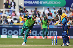 June 28, 2019 - Chester Le Street, County Durham, United Kingdom - JP Duminy of South Africa bowling during the ICC Cricket World Cup 2019 match between Sri Lanka and South Africa at Emirates Riverside, Chester le Street on Friday 28th June 2019. (Credit Image: © Mi News/NurPhoto via ZUMA Press)