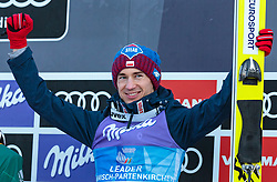 01.01.2018, Olympiaschanze, Garmisch Partenkirchen, GER, FIS Weltcup Ski Sprung, Vierschanzentournee, Garmisch Partenkirchen, Siegerehrung, im Bild Sieger Kamil Stoch (POL) // Winner Kamil Stoch (POL) during the Winner Award Ceremony of the Four Hills Tournament of FIS Ski Jumping World Cup at the Olympiaschanze in Garmisch Partenkirchen, Germany on 2018/01/01. EXPA Pictures © 2018, PhotoCredit: EXPA/ Stefanie Oberhauser