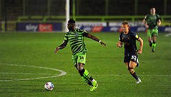 Jamille Matt of Forest Green Rovers get past George Lapslie of Mansfield Town- Mandatory by-line: Nizaam Jones/JMP - 14/11/2020 - FOOTBALL - innocent New Lawn Stadium - Nailsworth, England - Forest Green Rovers v Mansfield Town - Sky Bet League Two