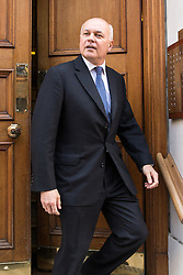 © Licensed to London News Pictures . 07/07/2016 . London , UK . IAIN DUNCAN SMITH leaves the Westminster home of Conservative Party leadership candidate Andrea Leadson in Westminster , this morning (Thursday 7th July 2016) . Photo credit : Joel Goodman/LNP
