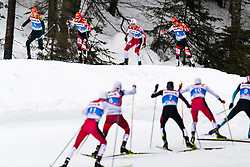 February 22, 2019 - Seefeld In Tirol, AUSTRIA - 190222 Eric Frenzel of Germany, Mario Seidl of Austria, Jan Schmid of Norway and Franz-Josef Rehrl of Austria competes in men's nordic combined 10 km Individual Gundersen during the FIS Nordic World Ski Championships on February 22, 2019 in Seefeld in Tirol..Photo: Vegard Wivestad Grøtt / BILDBYRÃ…N / kod VG / 170288 (Credit Image: © Vegard Wivestad GrØTt/Bildbyran via ZUMA Press)