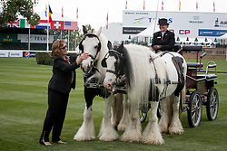 Southern Linda, CAD, driving her own pairs of  Tinkers on the showgrounds during Media day.<br /> CSIO 5* Spruce Meadows Masters - Calgary 2016<br /> © Hippo Foto - Dirk Caremans<br /> 06/09/16