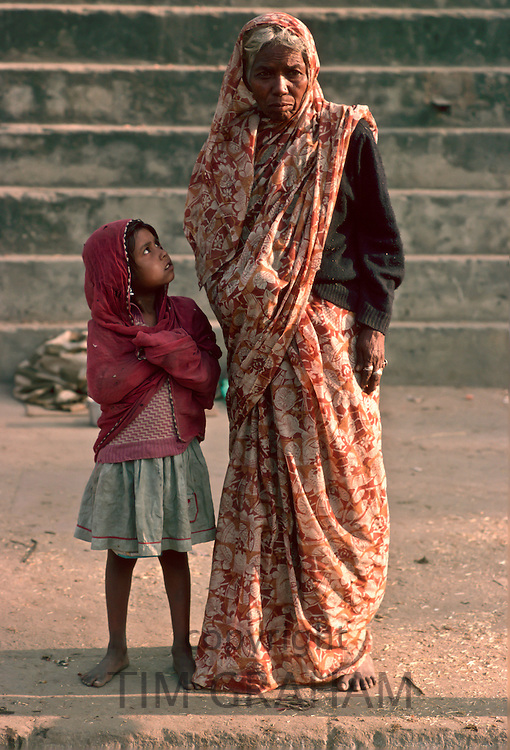 Woman and grandchild, Delhi, India