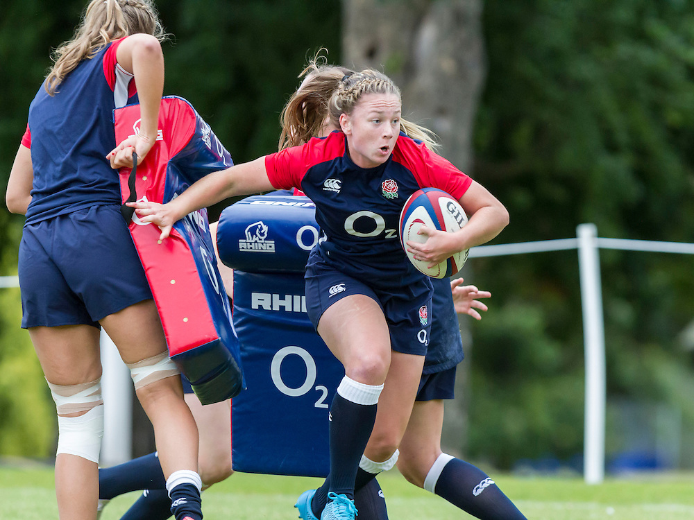 Chantelle Miell during warm-up, U20 England Women v U20 Canada Women at Trent College, Derby Road, Long Eaton, England, on 22nd August 2016