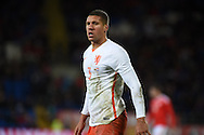Jeffery Bruma of Netherlands looks on. Vauxhall International football friendly, Wales v The Netherlands at the Cardiff city stadium in Cardiff, South Wales on Friday 13th November 2015. pic by Andrew Orchard, Andrew Orchard sports photography.