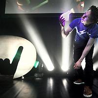 Nederland, Amsterdam , 17 april 2014.<br /> Rockstart Accelerator maakt vandaag in Undercurrent in Amsterdam Noord de 10 geselecteerde startups bekend van het 1e Europese Smart Energy accelerator programma dat aanstaande 15 januari van start gaat. Vanuit de Europese Tech en Media hub Amsterdam helpt Rockstart Accelerator deze internationale startups via een 100 dagen programma te accelereren en door te breken op de internationale markt.<br /> Op de foto: Andriy Shmyhelskyy van Care To Save tijdens presentatie van zijn pitch.<br /> Foto:Jean-Pierre Jans