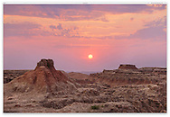 Sunrise at Badlands National Park, South Dakota, USA