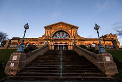 General view of Alexandra Palace at the Palm Court entrance during day one of the William Hill World Darts Championship at Alexandra Palace, London. PRESS ASSOCIATION Photo. Picture date: Thursday December 14, 2017. See PA story DARTS World. Photo credit should read: Steven Paston/PA Wire. RESTRICTIONS: Use subject to restrictions. Editorial use only. No commercial use. Call +44 (0)1158 447447 for further information.