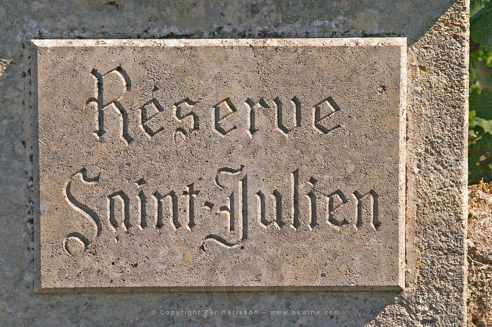 Reserve Saint Julien, a vineyard just outside the village Saint Emilion in Bordeaux