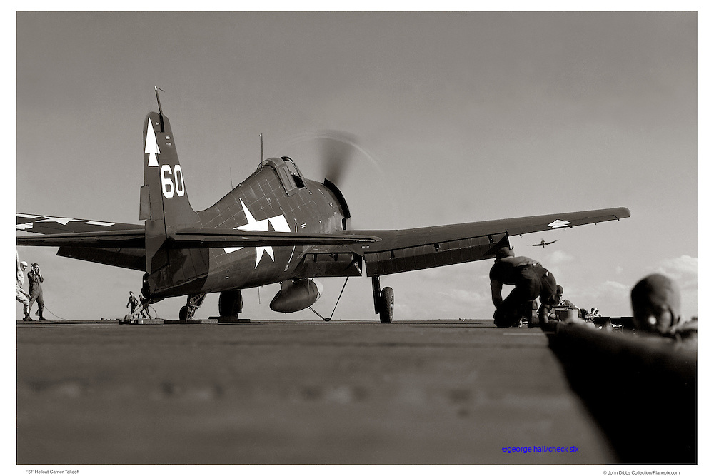 Hellcat on catapult, WWII