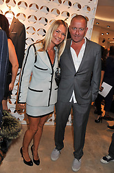 SEAN & JACQUI PERTWEE at the launch of the Spencer Hart Flagship store, Brook Steet, London on 13th September 2011.