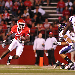 Sep 19, 2009; Piscataway, NJ, USA; Rutgers wide receiver Mohamed Sanu (6) runs after a reception during the second half of Rutgers' 23-15 victory over Florida International at Rutgers Stadium.