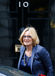 © Licensed to London News Pictures. 10/05/2016. London, UK. Secretary of State for Energy and Climate Change AMBER RUDD arrives at Number 10 Downing Street in Westminster, London for cabinet meeting. Photo credit: Tolga Akmen/LNP