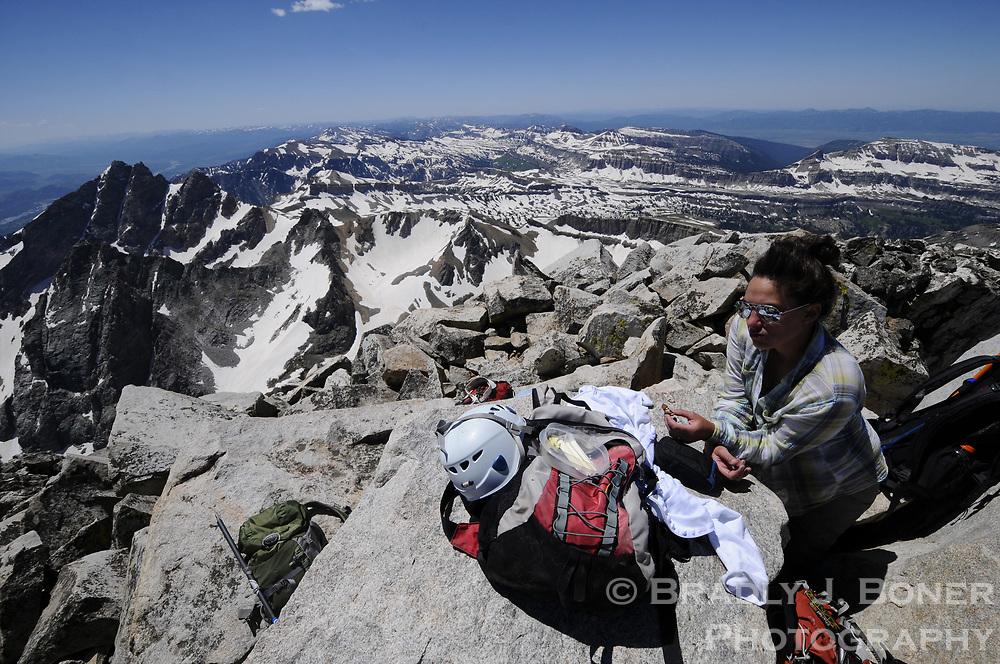 South Teton climb in Grand Teton National Park