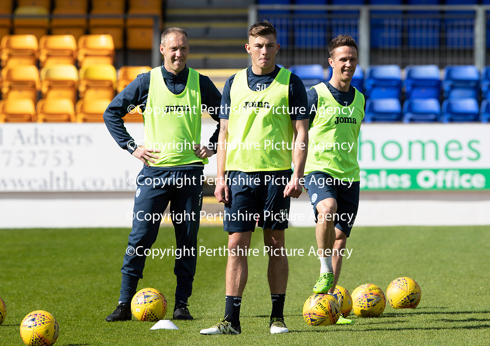 St Johnstone Training…10.05.18<br />Steven Anderson, Callum Hendry and Chris Millar pictured during training ahead of the final game of the season against Ross County<br />Picture by Graeme Hart.<br />Copyright Perthshire Picture Agency<br />Tel: 01738 623350  Mobile: 07990 594431