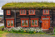 Traditional house in Röros, an UNESCO World Herritage town, in Tröndelag, Norway.