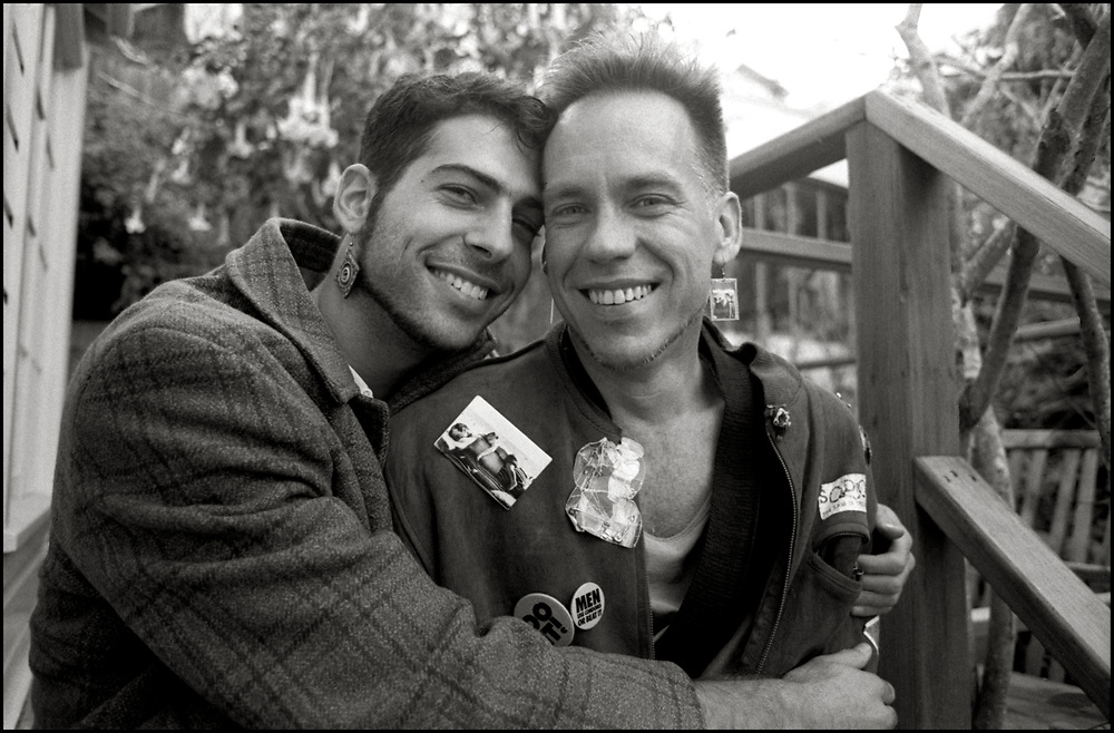David Robinson & Warren Krause, members of ACT UP, photographed in San Fransisco, CA. in November of 1990. Warren Krause died of AIDS-related complications on April 18, 1992.