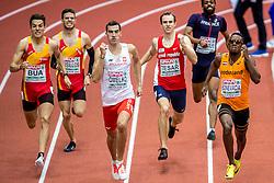 03-03-2017  SRB: European Athletics Championships indoor day 1, Belgrade<br /> In een lege Kombank Arena wordt de eerste dag van het Europees Kampioenschap gehouden / Liemarvin Bonevacia, Rafal Omelko POL