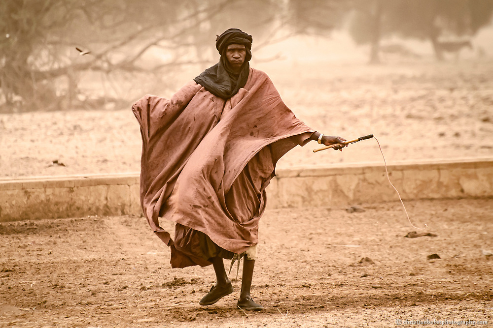 Farmers of the Fula tribe in Younouffere, Senegal