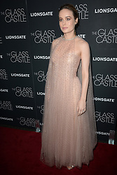 August 9, 2017 - New York, NY, USA - August 9, 2017  New York City..Brie Larson attending 'The Glass Castle' film premiere on August 9, 2017 in New York City. (Credit Image: © Kristin Callahan/Ace Pictures via ZUMA Press)