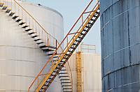 Fuel storage tanks, Toronto, Canada.