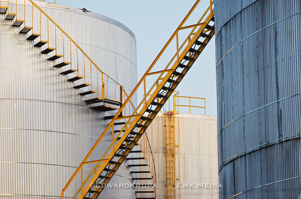 Fuel storage tanks, Toronto, Canada.