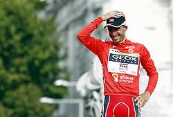 11.09.2011, Madrid,  ESP, LA VUELTA 2011, Finish, im Bild Juan Jose Cobo celebrates the victory in La Vuelta 2011.September 11,2011. EXPA Pictures © 2011, PhotoCredit: EXPA/ Alterphoto/ Paola Otero +++++ ATTENTION - OUT OF SPAIN/(ESP) +++++
