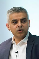 Royal Society of Medicine, London, March 4th 2016.  Labour Party mayoral candidate Sadiq Khan at the Greener London Mayoral hustings held at the Royal Society of Medicine in London. ///FOR LICENCING CONTACT: paul@pauldaveycreative.co.uk TEL:+44 (0) 7966 016 296 or +44 (0) 20 8969 6875. ©2015 Paul R Davey. All rights reserved.