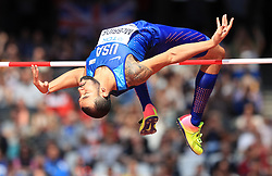 USA's Bryan McBride competes in the Men's High Jump Qualifying during day eight of the 2017 IAAF World Championships at the London Stadium.